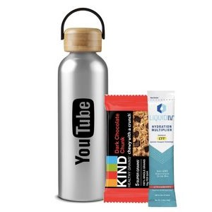 Stainless Hydration Bottle with Snacks